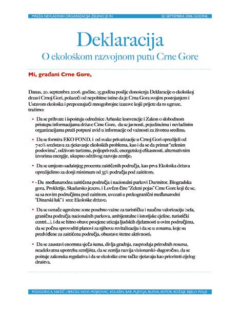 Deklaracija-o-ekoloskom-razvojnom putu Crne Gore