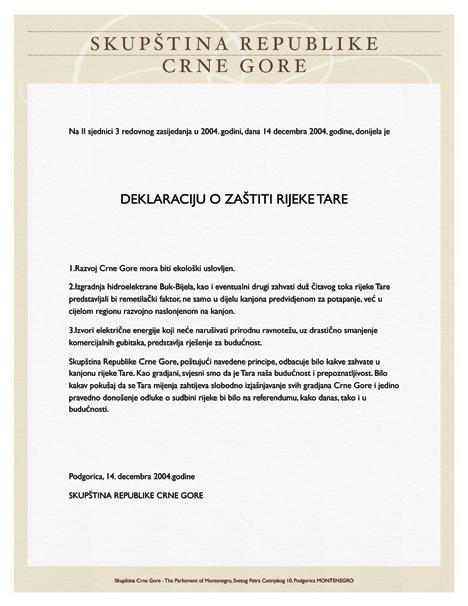 Deklaracija-o-zastiti-rijeke Tare