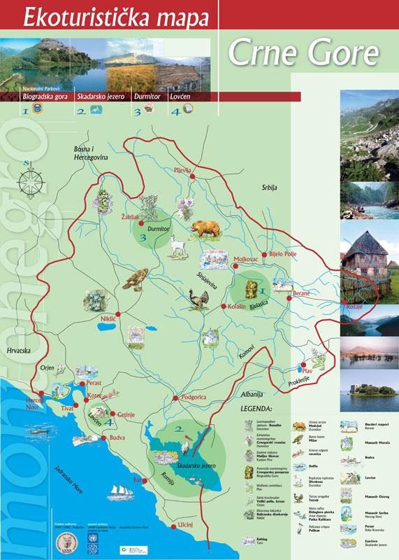 Ekoturisticka mapa Crne Gore